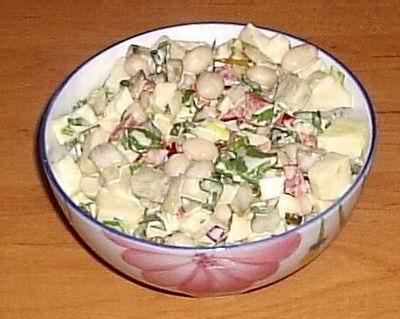 Постный салат рецепт с фото