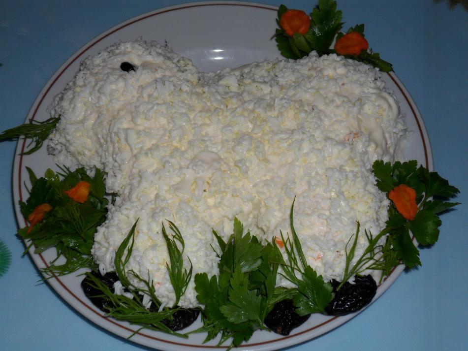 Салат овечка рецепт