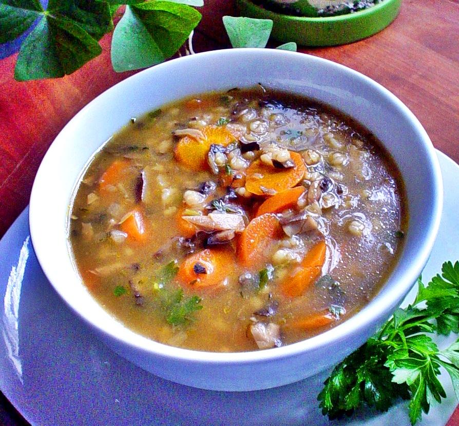 суп из сушеных грибов с крупой рецепт